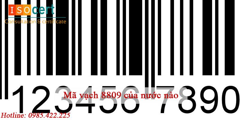 Mã vạch 8809 của nước nàoMã vạch 8809 của nước nào