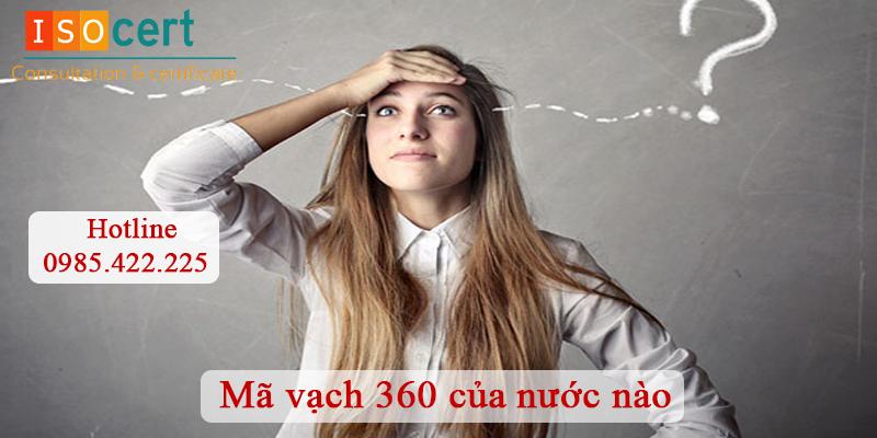 Mã vạch 360 là của nước nào?