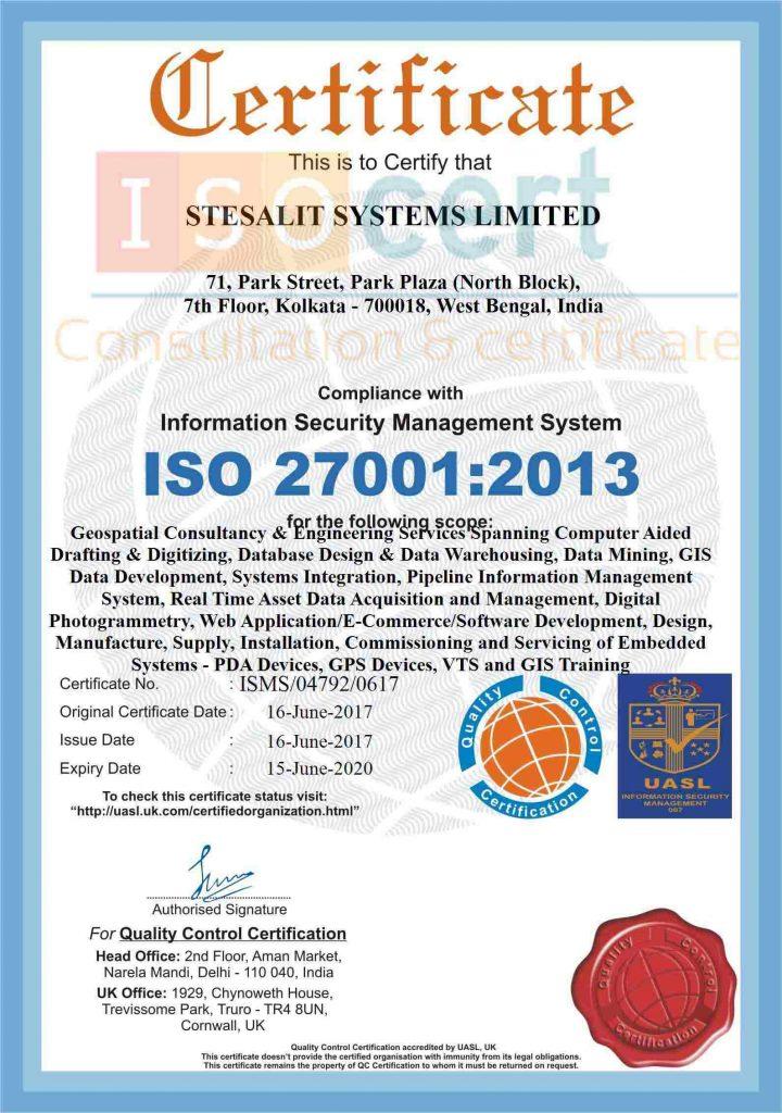 Giấy chứng nhận tiêu chuẩn iso 27001