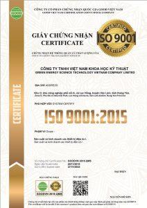 Chứng chỉ iso 9001 Công nhận quốc tế