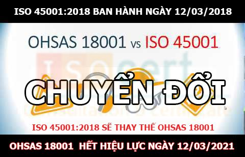 Chuyển đổi OHSAS 18001 sang ISO 45001
