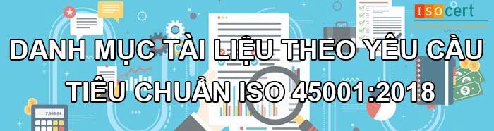 Tài liệu và hồ sơ của tiêu chuẩn ISO 45001